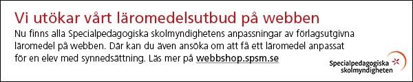 ANNONS: SPSM - Vi utökar vårt läromedelsutbud på webben